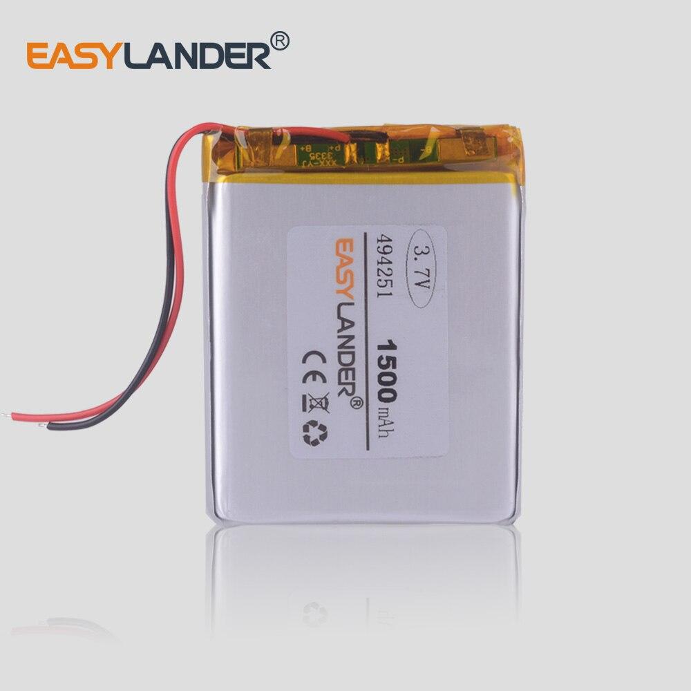 494251 484251 3.7v 1500mAh 리튬 폴리머 충전식 배터리 dvr GPS mp3 mp4 전화 탐색 악기 작은 장난감