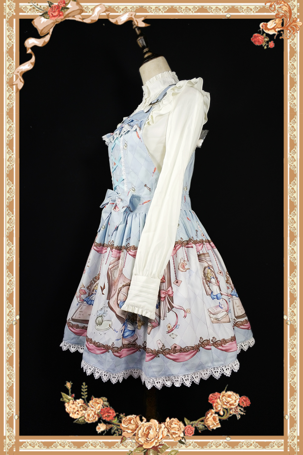 The Book Of Alices Mysterious Land ~ Sweet Printed Lolita Salopette Dress by Infanta