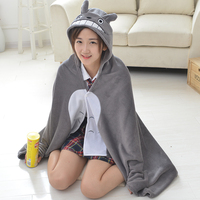 Anime Totoro Cosplay Costumes Shawl Cloak Cat Cartoon Plush Cape Home Office Air Condition Coral Fleece