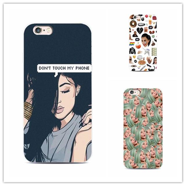 big sale bd920 3ce4c US $1.35 15% OFF|Kylie jenner Kimoji Kim Kardashian phone case Cover for  iPhone 7 plus 4 4s 5 s 5 c se 6 s for Samsung S5 S4 S6 S7 edge-in ...