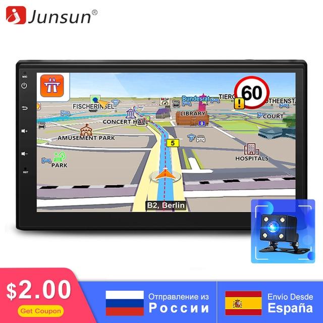 Junsun 2 Din автомобильный DVD Android 7,1 Радио мультимедийный плеер gps навигации Universale для nissan Авто Руль управление