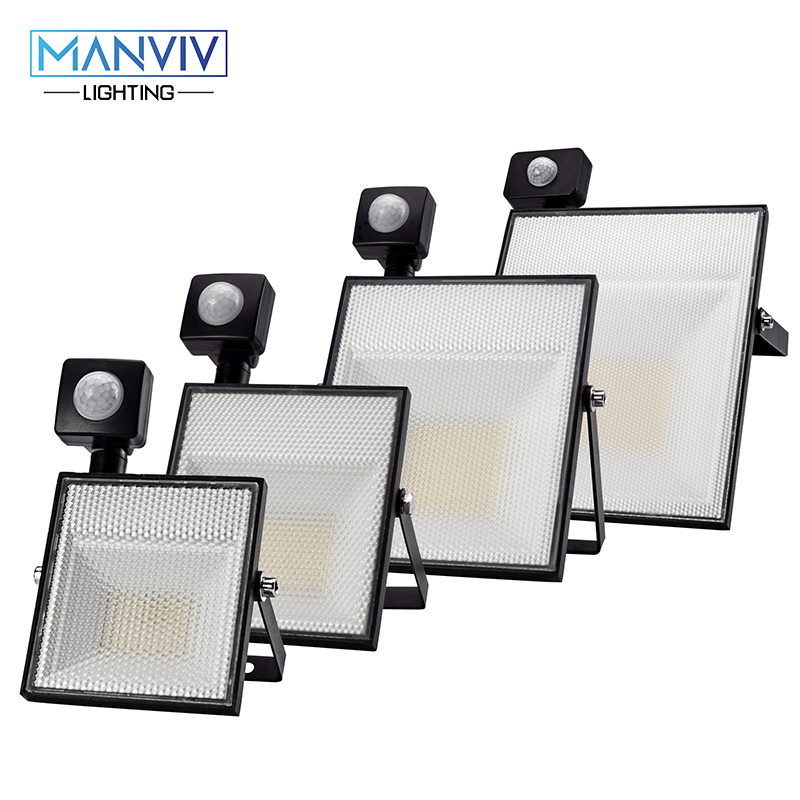 <font><b>LED</b></font> Motion Sensor <font><b>Floodlight</b></font> 15W 30W 45W <font><b>60W</b></font> AC220V SMD2835 Adjustable Sensor Outdoor LightingGarden Garage Spotlight Wall Lamp image