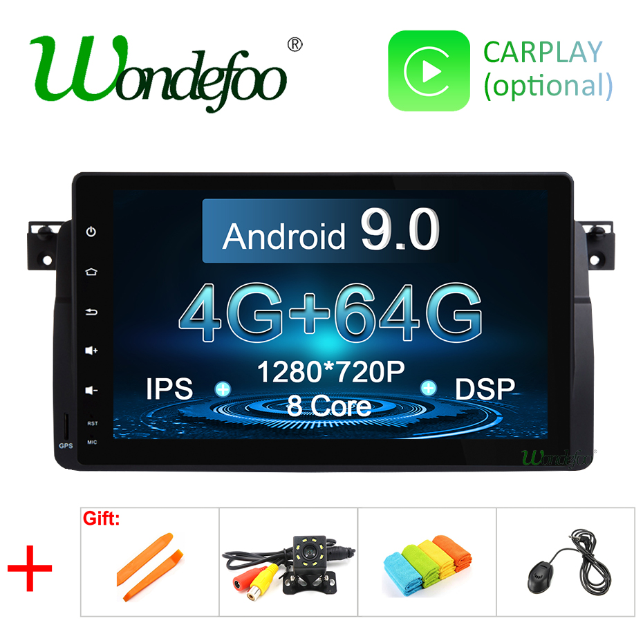 Android 9 0 DSP IPS screen 64G car GPS for BMW E46 M3 MG ZT Rover