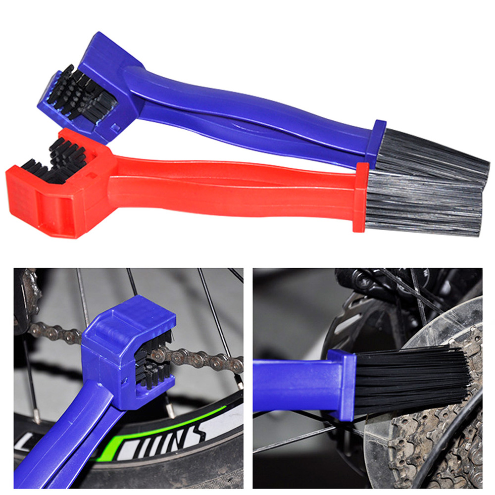 Universal Motorcycle Bicycle Chain Brush Cleaner For <font><b>KAWASAKI</b></font> er-6n estrella <font><b>ninja</b></font> h2 For SUZUKI dl <font><b>650</b></font> gsx-r750 gsx 250r etc. image