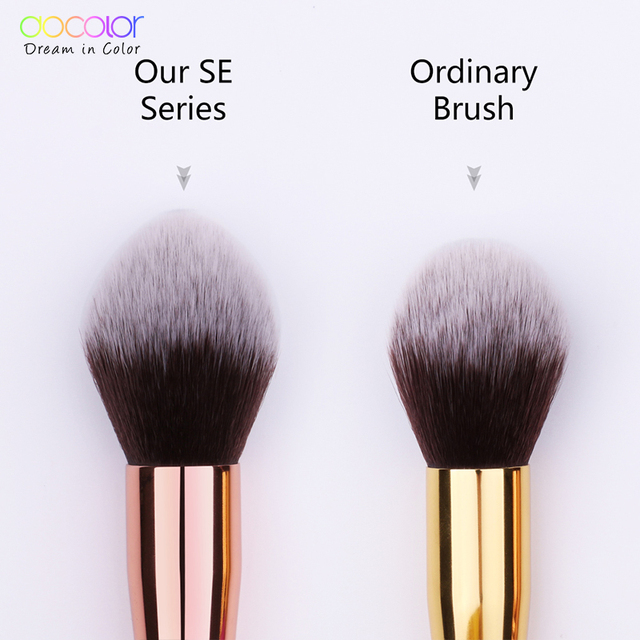 Docolor Black Big Powder Makeup Brushes Soft Highlight Single Glitter Handle Professional Synthetic Hair brushes Beauty Tool 2