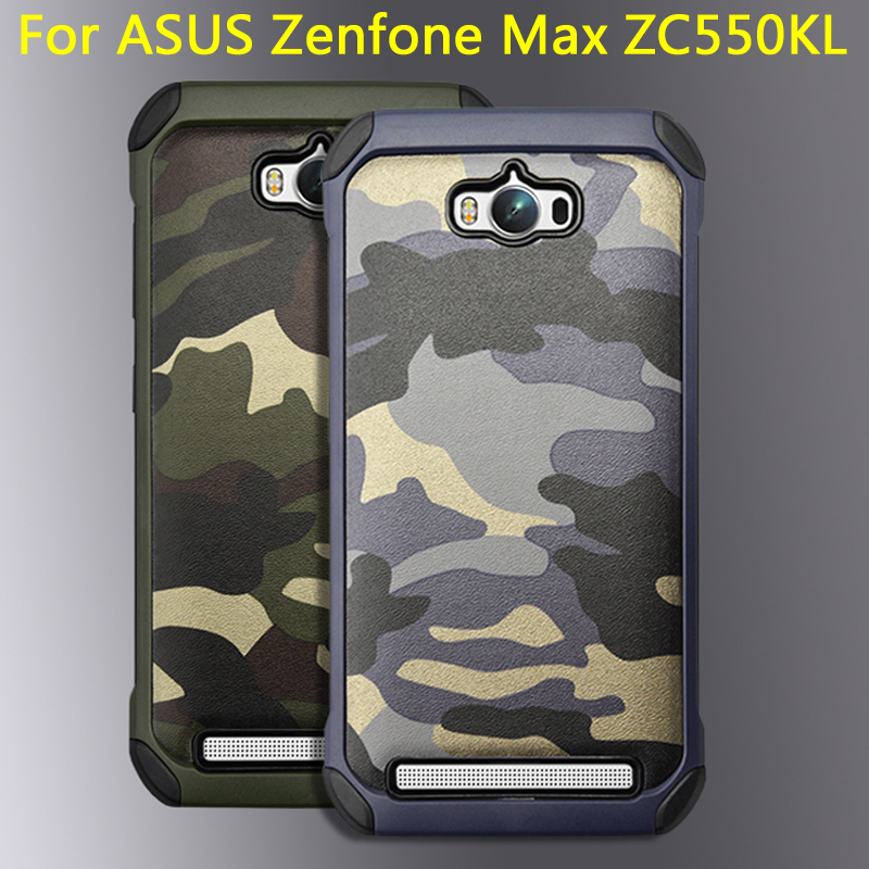 san francisco 54732 0d5f9 US $7.48  Army Camo Camouflage Hybrid Armor Capa Cases For Asus Zenfone Max  ZC550KL 5.5