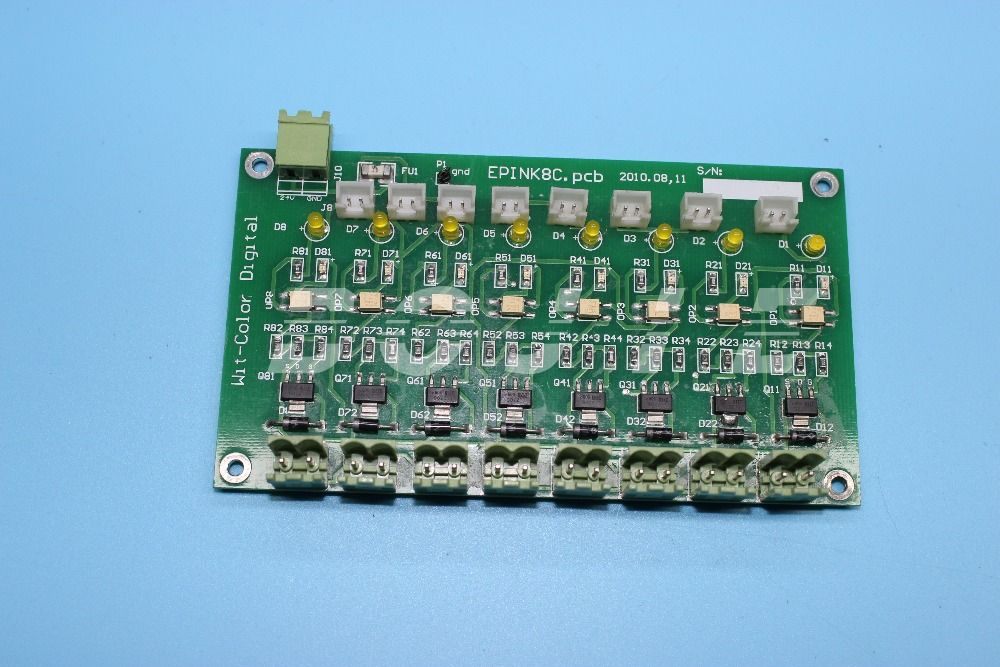 Ink supply board for wit color ultra 9000 printer wit color ultra 2000 carriage control board printer parts