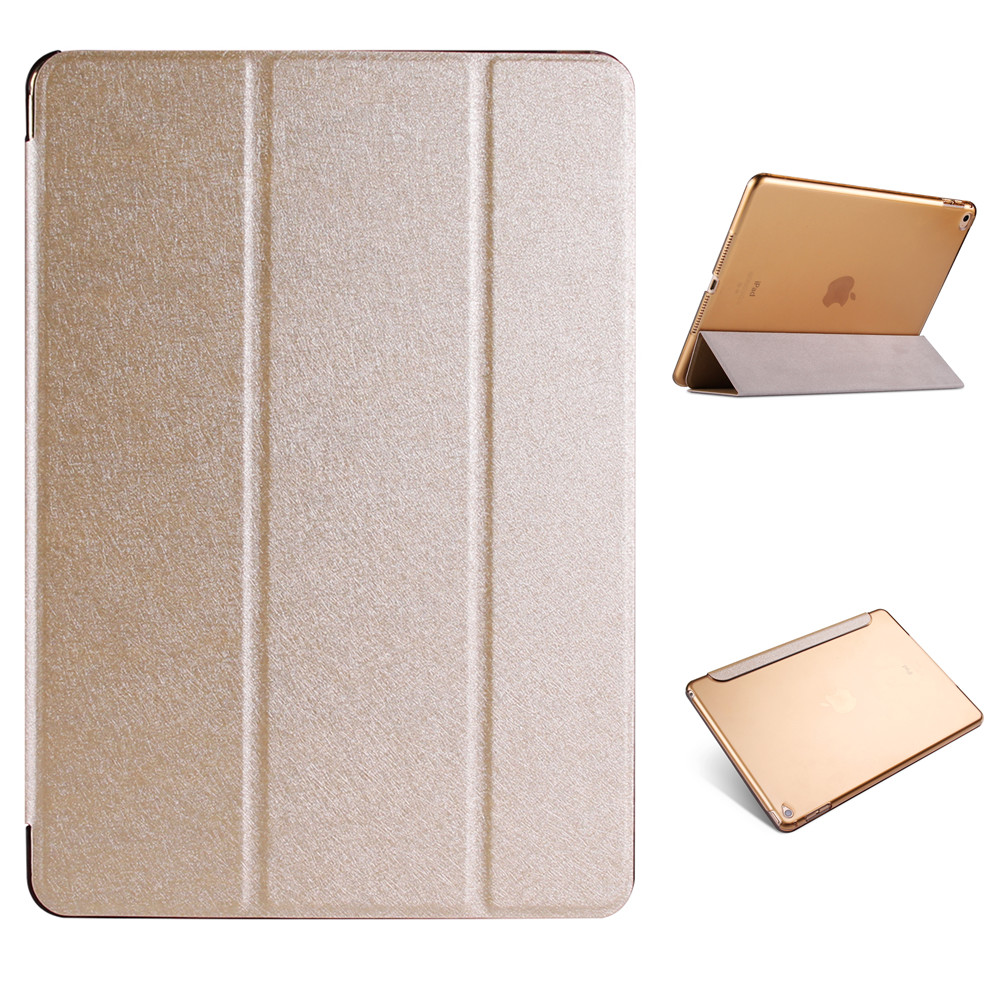 Natural silk and plastic Back Cover Case For iPad Air 1 Air 2 Pro 9 7