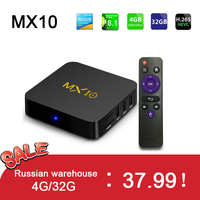 MX10 Android TV Box RK3328 4K TV Box Android 8.1 /9.0 USB3.0 4GB 32GB 64GB Miracast WiFi HD Media Player For Smart TV PK T9