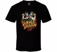 Movie T Shirts Short Sleeve Men Top Double Dragon T Shirt Classic Arcade Video Game Retro