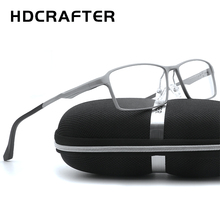Aluminum Magnesium Spectacle Frame Simple Men Women Optical Glasses With Clear Glass Brand Transparent Eyewear