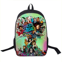 Suicide Squad Backpack For Teenager Children Harley Quinn Joker School Bags Mens Women Shoulder Bag Boys