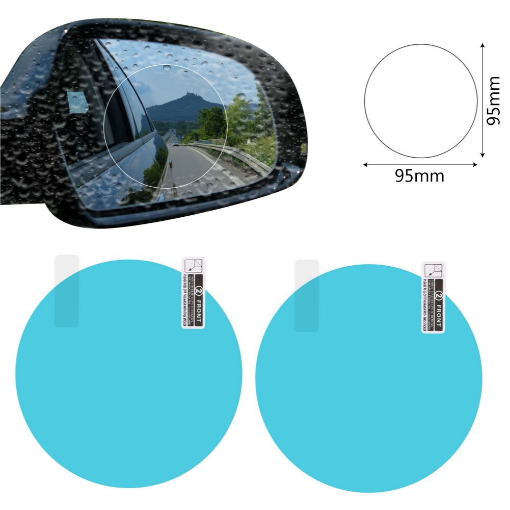 2PCS/Set Anti Fog Car Mirror Window Clear Film Anti-glare Car Rearview Mirror Protective Film Waterproof Rainproof Car Sticker 10