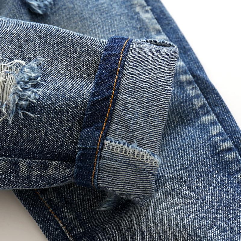 Hole Jeans For Boys Elastic Waist Kids Denim Trousers Kids Cowboy Harem Pants Solid Boy Jeans 2017 Spring Children Jeans 2-6 Y  (10)