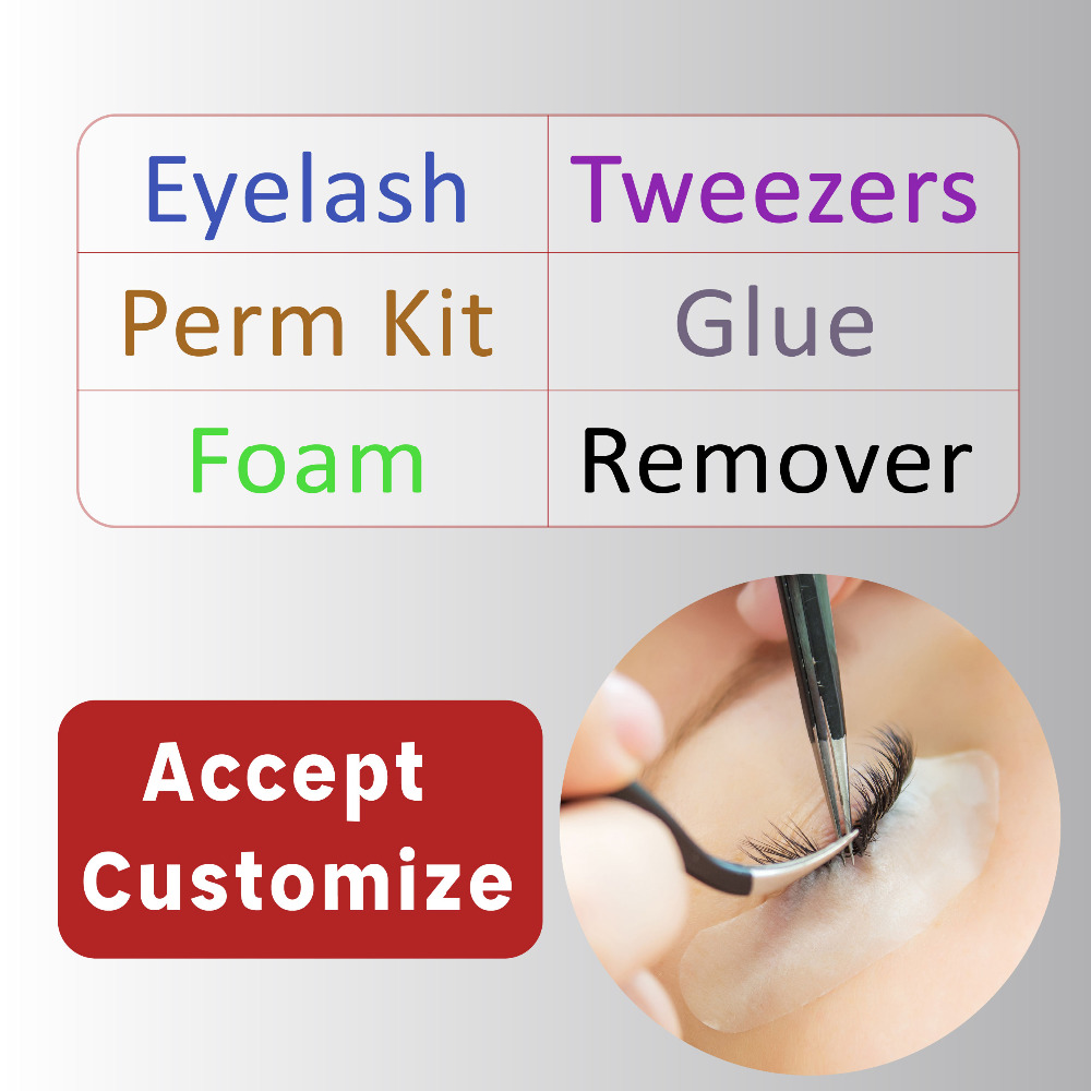 OEM/ODM Eyelash Cilia Eye lashes Beauty Makeup Products Tools Customize Design Your OWN labels logos
