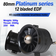 FMS 80mm Ducted Fan EDF Jet 12 Blades With 3280 KV2100 Motor 6S Pro RC Airplane Aircraft Plane Engine Power System 3500g Thrust