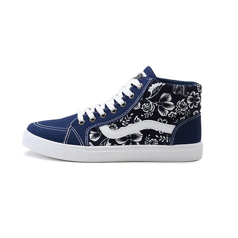 Prix pour Neuf de Haute Qualité Hommes Planche À Roulettes Chaussures Vieille École Respirant Haute Canva Classique Loisirs Sneakers