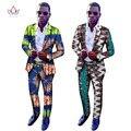2016 Подгонять Пиджаки и Брюки Традиционной Африке Стиль Костюм Моды для Мужчин Партии Костюм Мужчины Плюс Размер Горячая Продажа WYN164