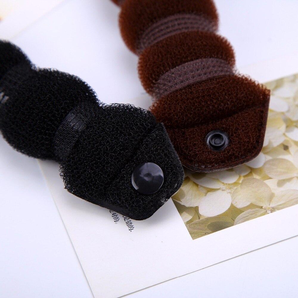 2 Sizes Brown Black Foam Hair Styling Tools Sponge Donut Bun Maker Hairwear Women Hair Accessories