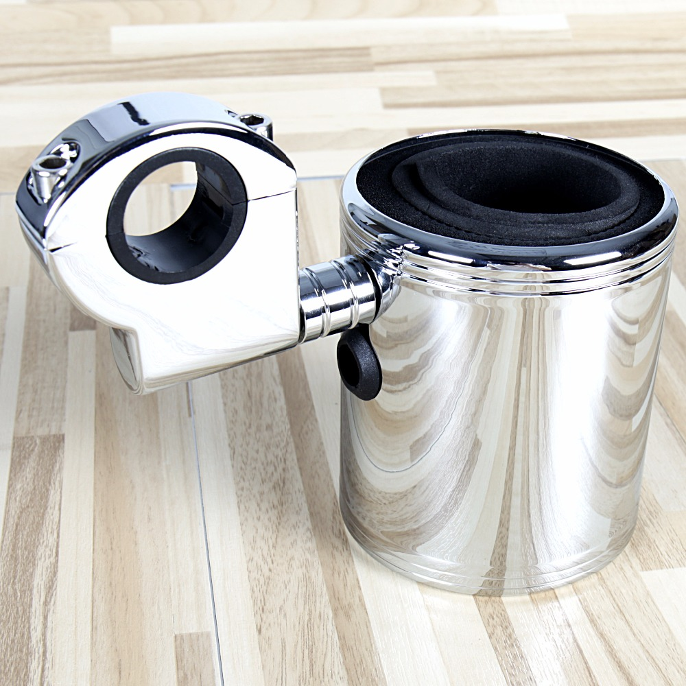 Chrome Adjustable Cup Holder For Harley Touring Street Glide ATV Universale Motorcycle FLH/T FLHX-in Covers & Ornamental Mouldings from Automobiles & Motorcycles