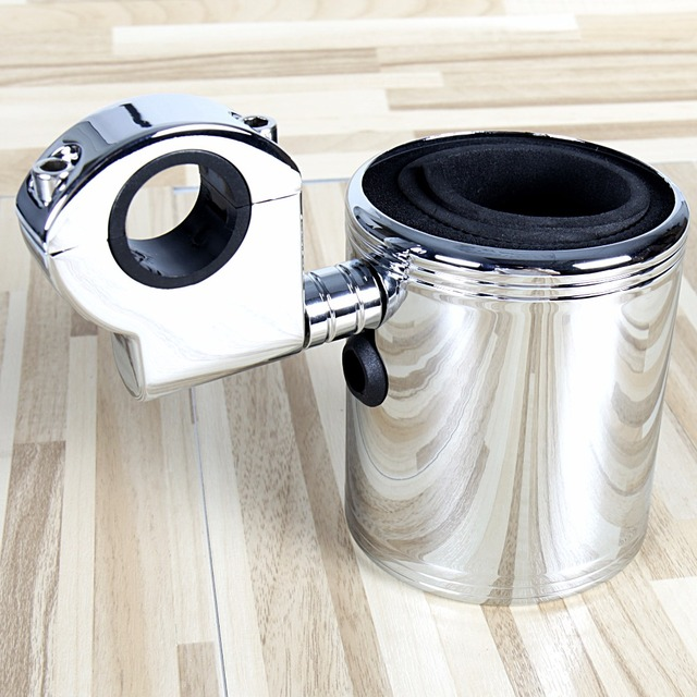 Chrome Adjustable Cup Holder For Harley Touring Street Glide ATV Universale Motorcycle FLH/T FLHX