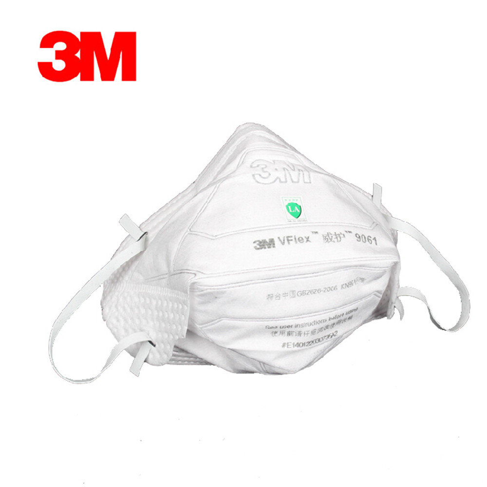 10Pcs Genuine 3M 9061 Respirator Masks Anti-particulate Matter Dust-proof Anti-fog Haze Anti-PM2.5 Masks Health Care Tool new respirator gas masks 7 piece suit dust proof spraying anti fog and haze anti gas spray respirator masks advanced silicone