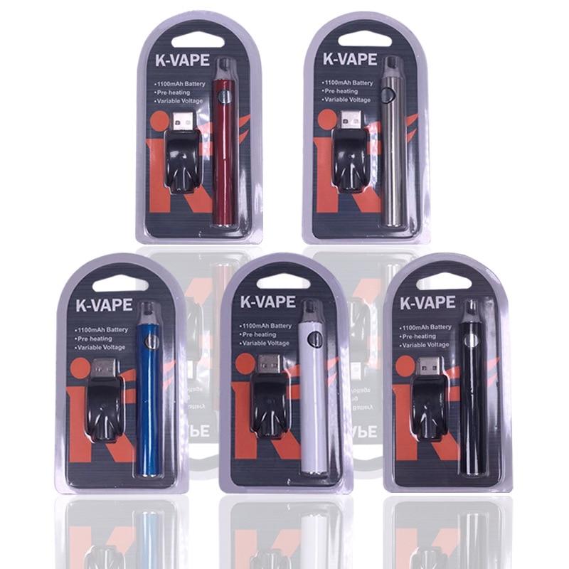Vape Preriscaldare 1100 mAh Batteria Sigaretta Elettronica Tensione Variabile 510 Filo Germoglio di Preriscaldamento Batteria per Ce3 CBD Vape Cartuccia