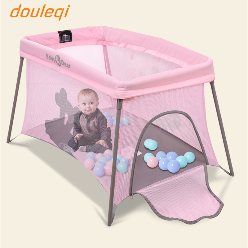 Baby crib multi function collapsible portable travel bed 0 3 years old baby play bed