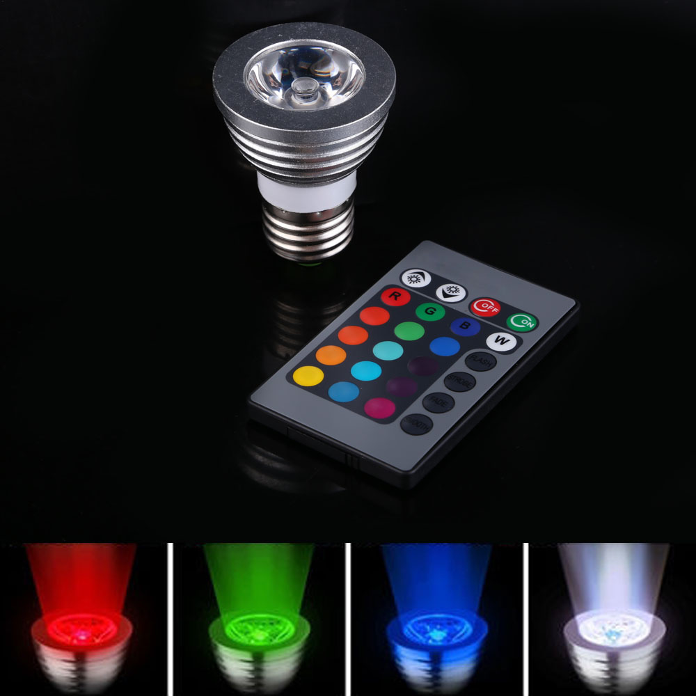 AC100-240V 3 W E27 RGB LED Magic Light Bulb Lamp And IR Remote Controller Magic Lighting 16 Colors 5 Modes NG4S