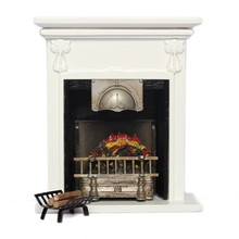 New 1/12 Dollhouse Furniture Metal Rack with Firewood for Living Room Fireplace Model(China)