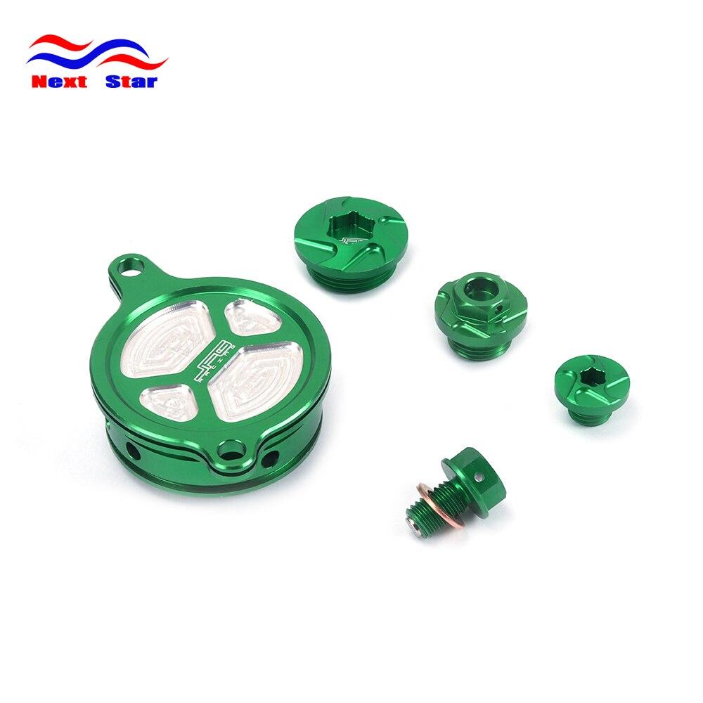 Motorcycle Oil Filter Cap Cover Screw Timing Dipstick Filter Plugs For KAWASAKI KXF450 KXF 450 09-15 KLX450R KLX 450R KLX450 R Motorcycle Oil Filter Cap Cover Screw Timing Dipstick Filter Plugs For KAWASAKI KXF450 KXF 450 09-15 KLX450R KLX 450R KLX450 R
