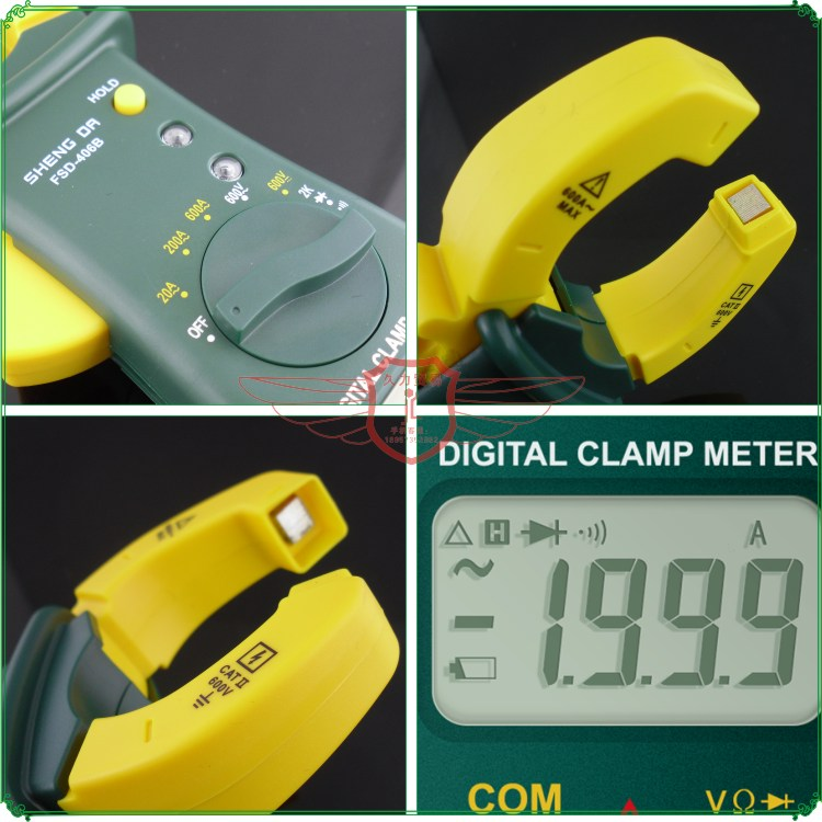 Shengda tool 406B digital clamp meter Clamp multimeter digital ammeter current meter free shipping 5pcs 1mm hrc55 r0 5 1 20 d4 50 2 flutes carbide long neck ball nose end mills milling tools cnc router bits