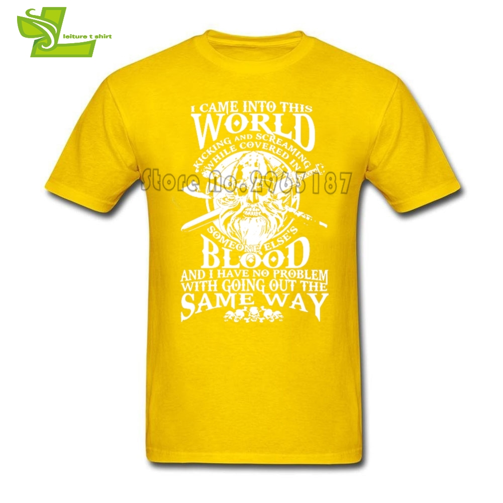 Viking Warrior Adult T Shirt Leisure Classic Loose T-Shirt Boy Short Sleeve Round Neck Tshirt Teenage Newest Unique Tee Shirt
