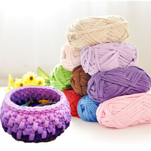 1 Pcs Hand-knit Rugs Woven Thread Crocheted Basket Blanket 100g Braided Rope DIY Yarn MDD88
