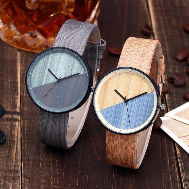 Vansvar  Watches Woman  Wooden Color  Casual   Quartz  Wristwatches  Fashion Luxury Simple  Montre Femme  Watch  18MAR28 4