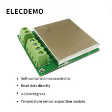 K-type thermocouple module RS485 MAX6675 temperature sensor acquisition module MODBUS communication function demo board ds18b20 rs485 usb 485 interface temperature sensor modbus standard protocol 1 5m