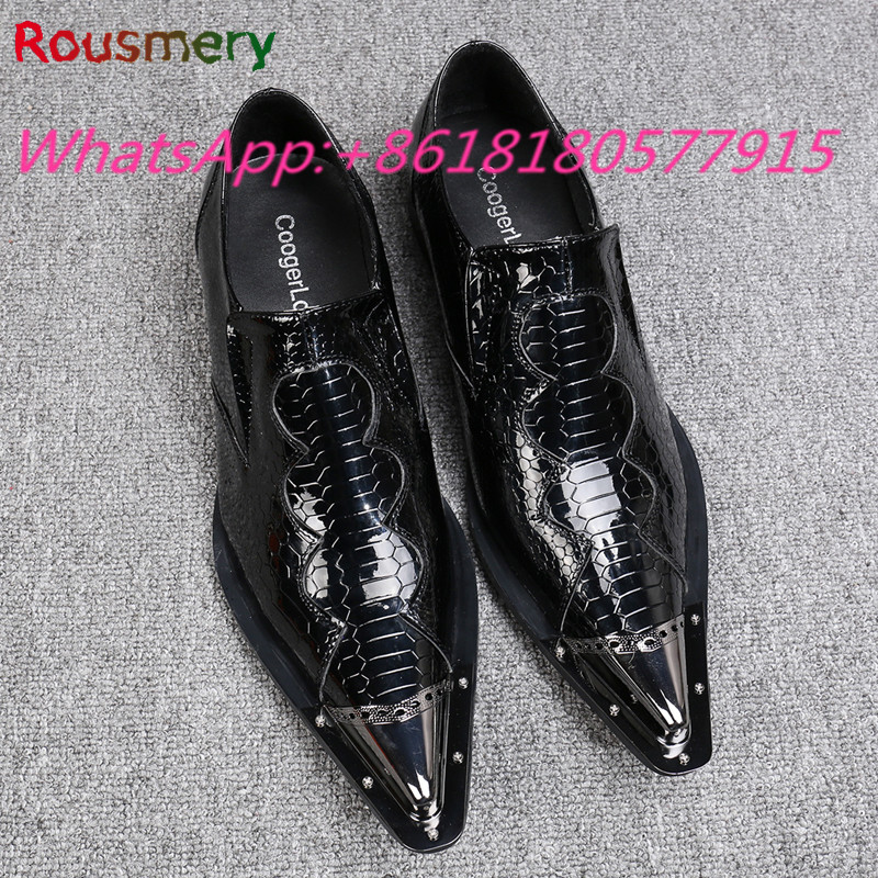 2017 New Arrival Cool Black Metal Decoration Men Casual Shoes Plus Size Spring Autumn Attractive Man Moccasins Slip-On Shoes