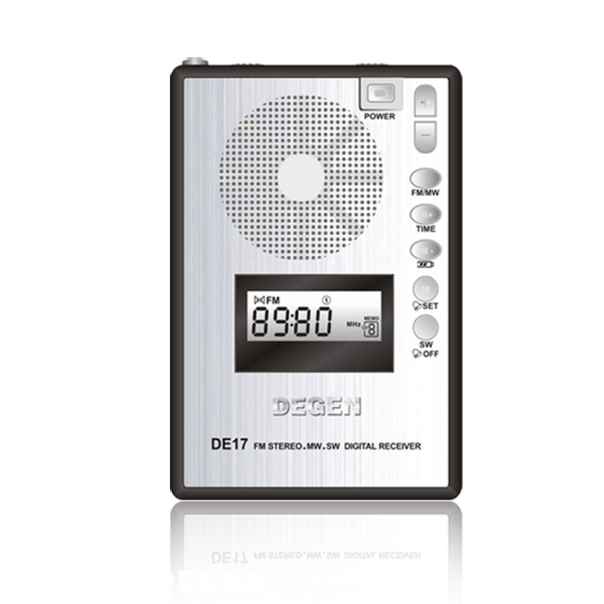 Bescheiden Degen De17 Fm Stereo Mw Sw Lcd Minitaschenfunk Dsp Weltempfänger Alarm Quarz Uhr Fm Radio A0904a Radio