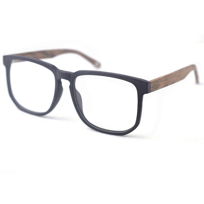 Image 4 - HDCRAFTER для женщин мужчин Винтаж Ретро деревянная оправа для очков негабаритных оптических eyaglass оправы по рецепту линзы очки-in Мужские очки кадры from Аксессуары для одежды on AliExpress - 11.11_Double 11_Singles' Day