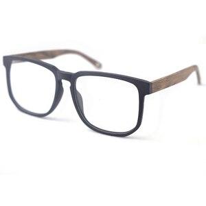 Image 4 - Hdcrafter 여성 남성 빈티지 레트로 나무 안경 프레임 처방 렌즈 안경에 대 한 대형 광학 안경 프레임