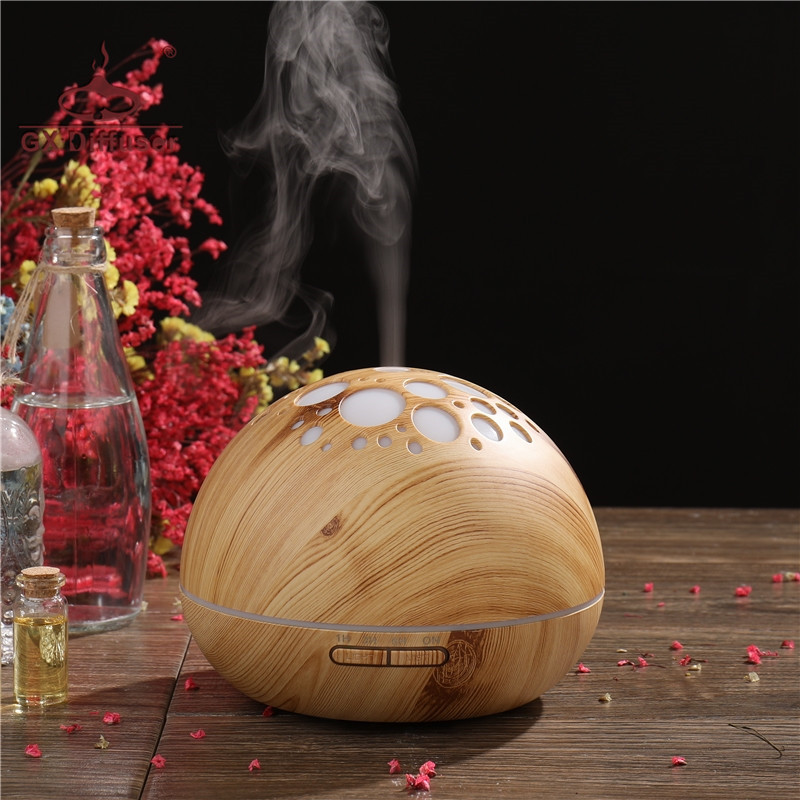 GX Diffuser 300ML LED Timer Essential Oil For Aromatherapy Aroma Ultrasonic Humidifier Air Mist Maker Home