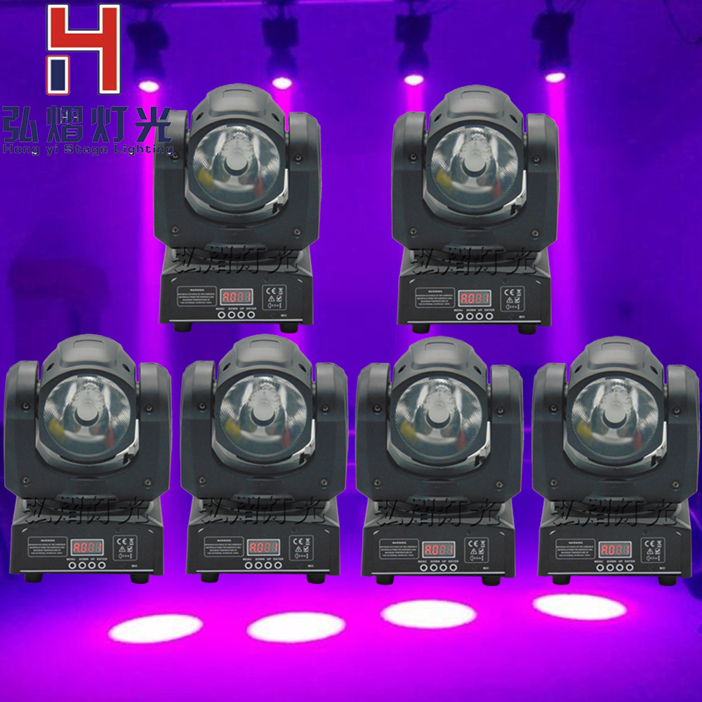 (6 pieces/lot)60W LED Spot Moving Head Light/dj controller LED lamp Light 60W rgbw 4in1 Beam led moving head lights super bright 4pcs 60w flightcase led spot moving head light usa luminums mini led beam moving head 60w rgbw 4in1 beam led dj spot light