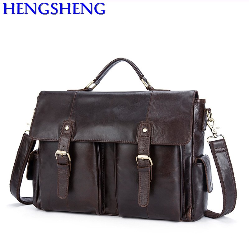 Free Shipping newly design dress business men bag with quality cow leather men shoulder bags of fashion genuine leather men bag 2018 newly design men s genuine real 100