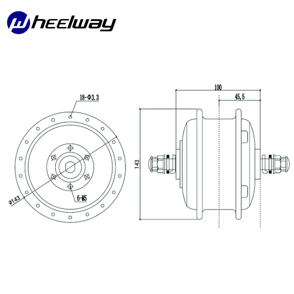 Wheelway sprach Hub Motor Elektrische Fahrrad 24 V/36 V/48 V 180 W/240 W/ 350W Bürstenlosen Getriebe Ebike Hub Motor Conversion Kit
