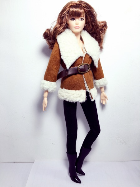 New 1/6 Fashion Doll Clothes Doll Accessories Girl Gift DIY Doll Coat Sheep Cashmere Winter Clothing For Barbie Doll