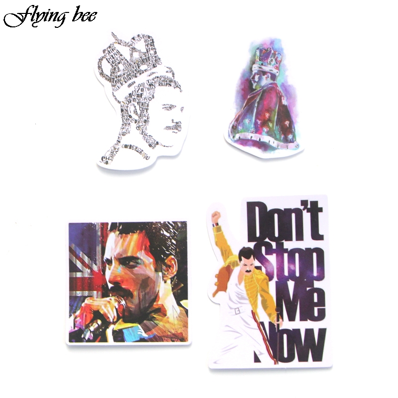 Image 4 - Flyingbee 13 Pcs Freddie Mercury Sticker Graffiti Rock Stickers for Kid DIY Laptop Luggage Phone Car Waterproof Sticker X0001-in Stickers from Consumer Electronics