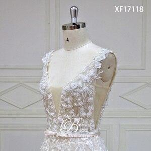 Image 5 - Robe de mariée en dentelle japonaise, avec fleurs sur mesure, avec perles de cristal, robes de mariée bonne qualité, modèle offres spéciales, XF17118