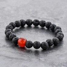 LongWay SBR190001 2019 New Desinger Natural Stone Beads Volcanic Rocks Beaded Bracelets Red Crystal Beads Elatic Banges Women толстовка red n rocks red n rocks mp002xm050k6