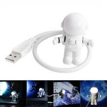 Bombilla LED de lectura portátil, 5V CC, USB, ahorro de energía, para portátil, lámpara de emergencia, luz nocturna LED con astronauta USB