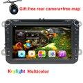 """8 """"Quad core Android 5.1 DVD Del Coche para vw polo 2011 2012 2013 2014 2015 Navegación GPS headunit radio de coche con bluetooth libre mapa"""